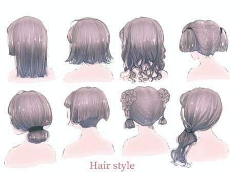 女性の髪型の種類を集めた画像