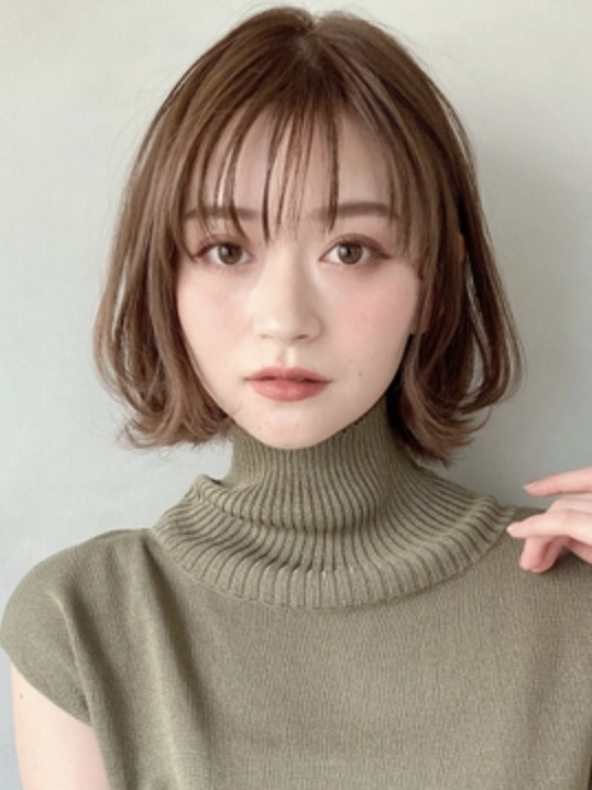 エアリーミディ♪ショートパーマ小顔・黒髪デジタルパーマのイメージ