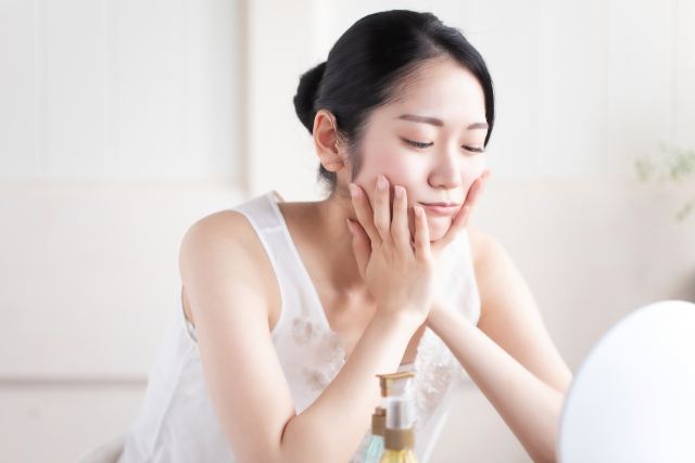 ホルモンバランスが乱れている女性のイメージ