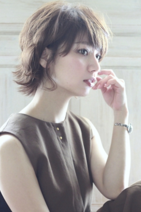mowenイルミナカラーxデジタルパーマxヘルシーレイヤーx黒髪の画像